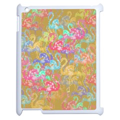 Flamingo pattern Apple iPad 2 Case (White)