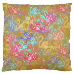 Flamingo pattern Large Cushion Case (Two Sides)
