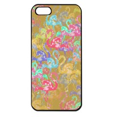 Flamingo pattern Apple iPhone 5 Seamless Case (Black)