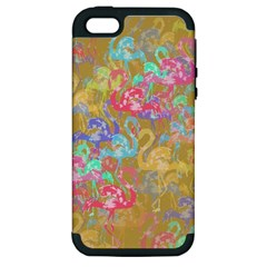 Flamingo pattern Apple iPhone 5 Hardshell Case (PC+Silicone)