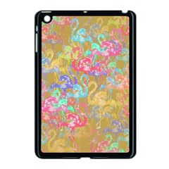 Flamingo pattern Apple iPad Mini Case (Black)
