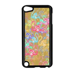 Flamingo pattern Apple iPod Touch 5 Case (Black)