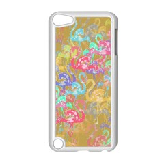 Flamingo pattern Apple iPod Touch 5 Case (White)