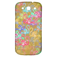 Flamingo pattern Samsung Galaxy S3 S III Classic Hardshell Back Case