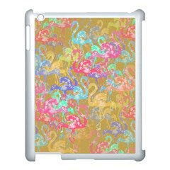 Flamingo pattern Apple iPad 3/4 Case (White)
