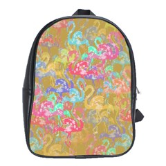Flamingo pattern School Bags (XL)