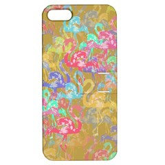 Flamingo pattern Apple iPhone 5 Hardshell Case with Stand