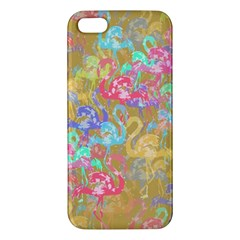 Flamingo pattern Apple iPhone 5 Premium Hardshell Case