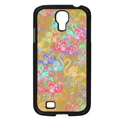 Flamingo pattern Samsung Galaxy S4 I9500/ I9505 Case (Black)