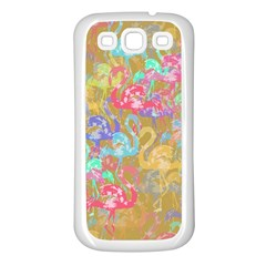 Flamingo pattern Samsung Galaxy S3 Back Case (White)