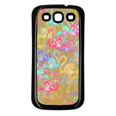 Flamingo pattern Samsung Galaxy S3 Back Case (Black)