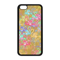 Flamingo pattern Apple iPhone 5C Seamless Case (Black)