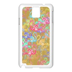 Flamingo pattern Samsung Galaxy Note 3 N9005 Case (White)