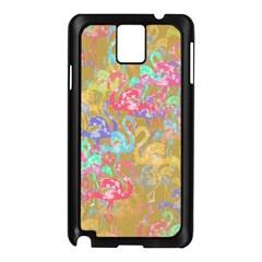Flamingo pattern Samsung Galaxy Note 3 N9005 Case (Black)