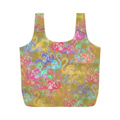 Flamingo pattern Full Print Recycle Bags (M)