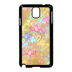 Flamingo pattern Samsung Galaxy Note 3 Neo Hardshell Case (Black)