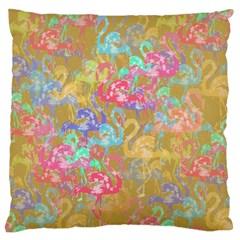 Flamingo pattern Large Flano Cushion Case (Two Sides)