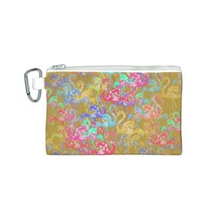 Flamingo pattern Canvas Cosmetic Bag (S)