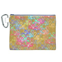 Flamingo pattern Canvas Cosmetic Bag (XL)