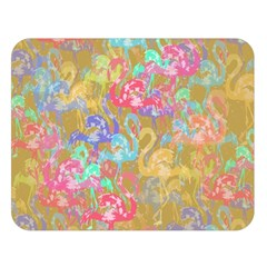 Flamingo pattern Double Sided Flano Blanket (Large)
