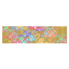 Flamingo pattern Satin Scarf (Oblong)