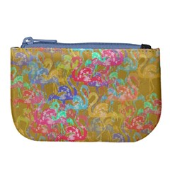 Flamingo pattern Large Coin Purse