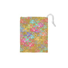 Flamingo pattern Drawstring Pouches (XS)