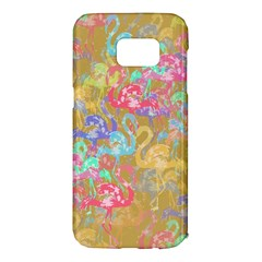 Flamingo pattern Samsung Galaxy S7 Edge Hardshell Case
