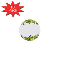 Birthday Card Flowers Daisies Ivy 1  Mini Buttons (10 Pack)