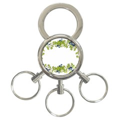 Birthday Card Flowers Daisies Ivy 3-Ring Key Chains