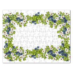 Birthday Card Flowers Daisies Ivy Rectangular Jigsaw Puzzl