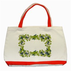 Birthday Card Flowers Daisies Ivy Classic Tote Bag (Red)