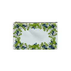 Birthday Card Flowers Daisies Ivy Cosmetic Bag (Small)