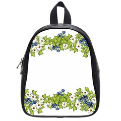 Birthday Card Flowers Daisies Ivy School Bags (small)