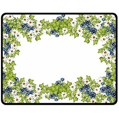 Birthday Card Flowers Daisies Ivy Fleece Blanket (medium)