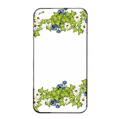 Birthday Card Flowers Daisies Ivy Apple iPhone 4/4s Seamless Case (Black)