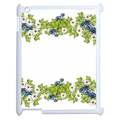 Birthday Card Flowers Daisies Ivy Apple Ipad 2 Case (white)