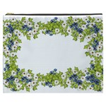 Birthday Card Flowers Daisies Ivy Cosmetic Bag (XXXL)  Front