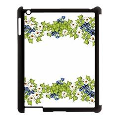 Birthday Card Flowers Daisies Ivy Apple Ipad 3/4 Case (black)