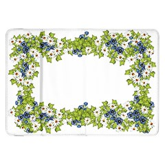 Birthday Card Flowers Daisies Ivy Samsung Galaxy Tab 8.9  P7300 Flip Case