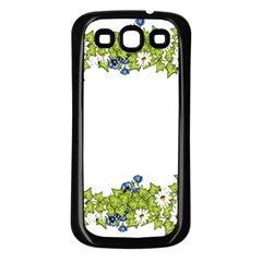 Birthday Card Flowers Daisies Ivy Samsung Galaxy S3 Back Case (black)