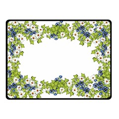 Birthday Card Flowers Daisies Ivy Double Sided Fleece Blanket (Small)