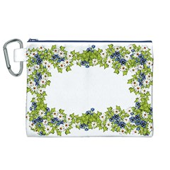 Birthday Card Flowers Daisies Ivy Canvas Cosmetic Bag (xl)