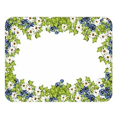 Birthday Card Flowers Daisies Ivy Double Sided Flano Blanket (large)