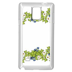Birthday Card Flowers Daisies Ivy Samsung Galaxy Note 4 Case (White)