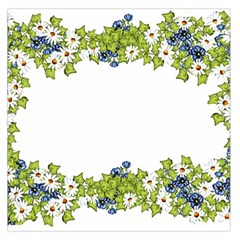 Birthday Card Flowers Daisies Ivy Large Satin Scarf (Square)