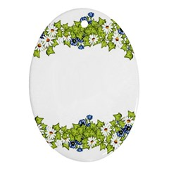 Birthday Card Flowers Daisies Ivy Ornament (oval)