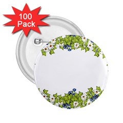 Birthday Card Flowers Daisies Ivy 2 25  Buttons (100 Pack)
