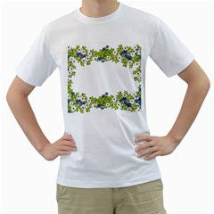 Birthday Card Flowers Daisies Ivy Men s T-Shirt (White) (Two Sided)