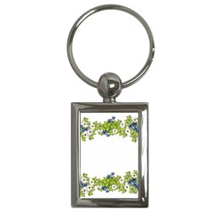 Birthday Card Flowers Daisies Ivy Key Chains (Rectangle)